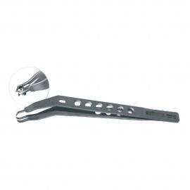 Implant Holding Tweezers, Titanium, 16 cm