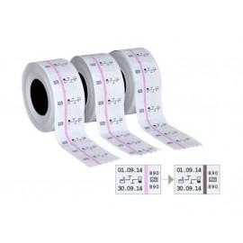 Rotolo etichette a 2 linee con indicatore di sterilizzazione, 3 pz.