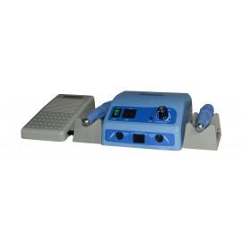 Micromotore da banco 40k g/m, 2 manipoli a spazzole, contr banco/pedale