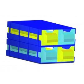 Struttura in plastica per 2 contenitori ortodonzia tipo G94