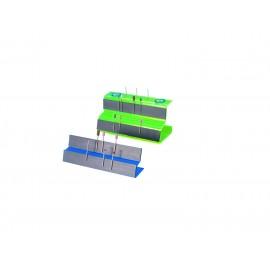 Portafrese magnetico in plexiglass fluorescente giallo.