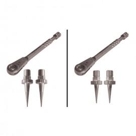 Kit 2 estrattori di impianti e chiave
