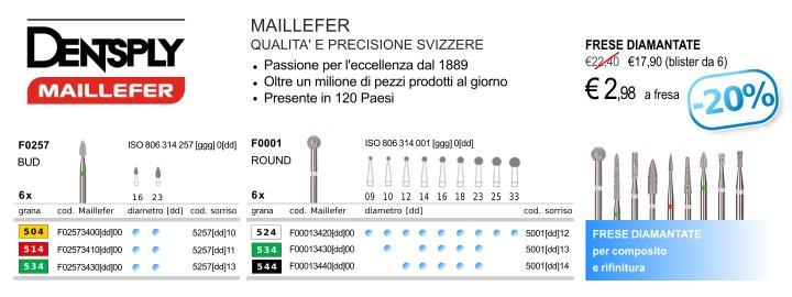 Dentsply Maillefer, Frese Diamantate, per composito e rifinitura